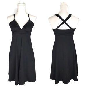 Susana Monaco Strappy Black Empire Waist Dress LBD